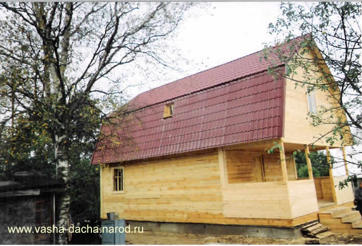 Бруса с ломаной крышей щитовой дом с